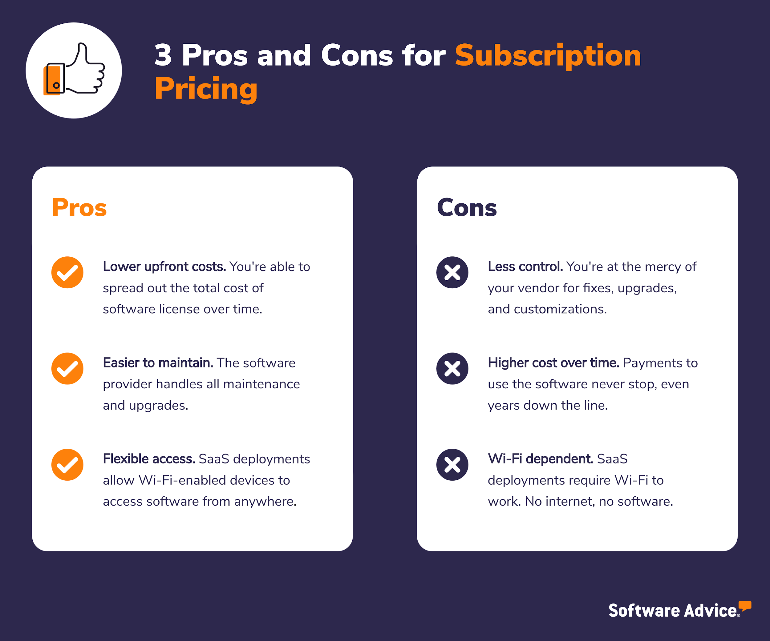 3 pros and cons of subscription-based pricing models