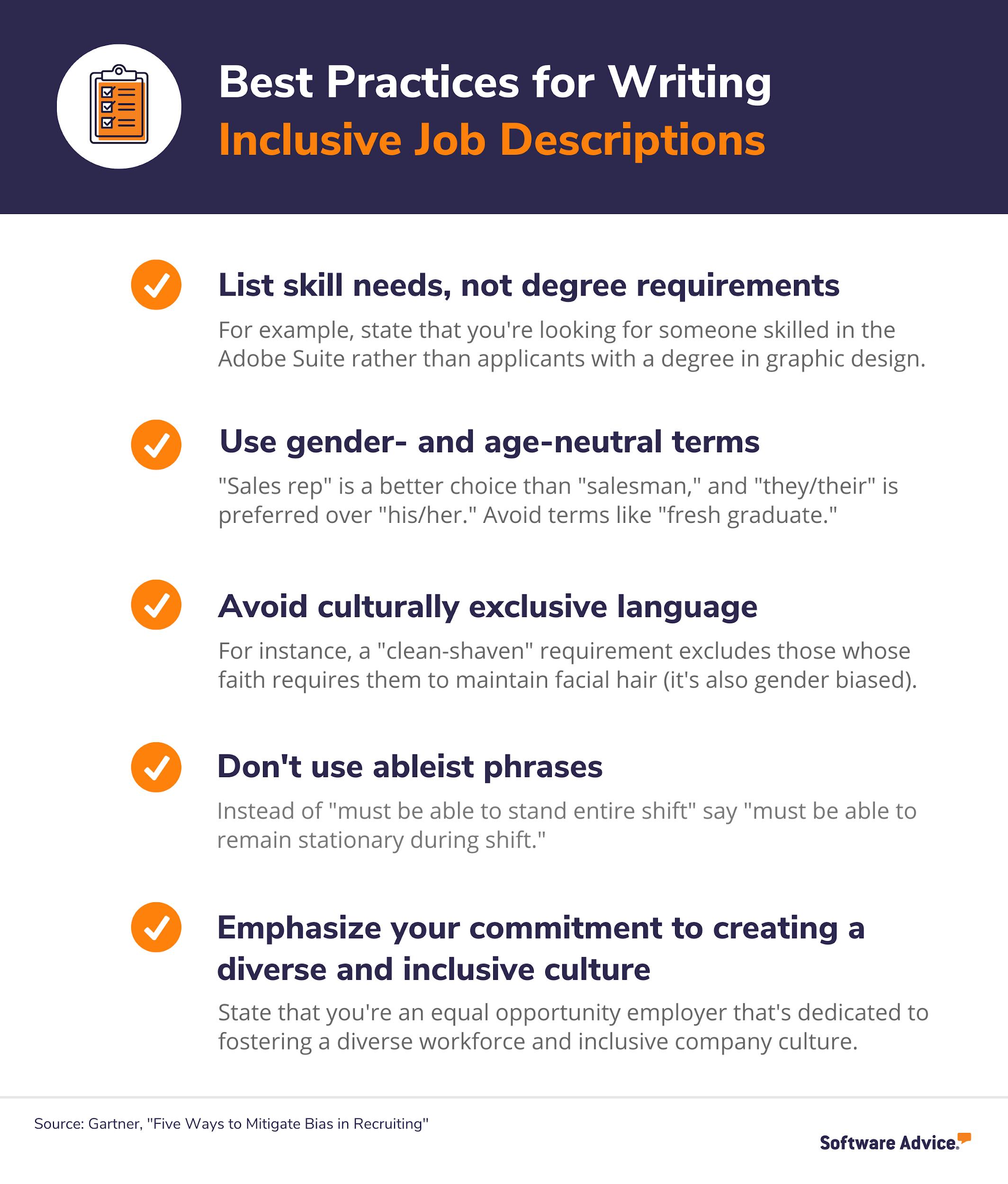 6 tips for writing inclusive job descriptions