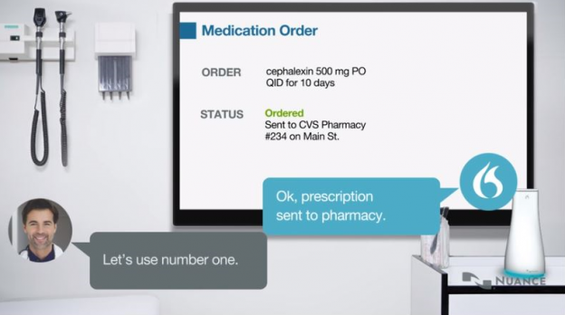 ai based virtual assistant helping with a medication order