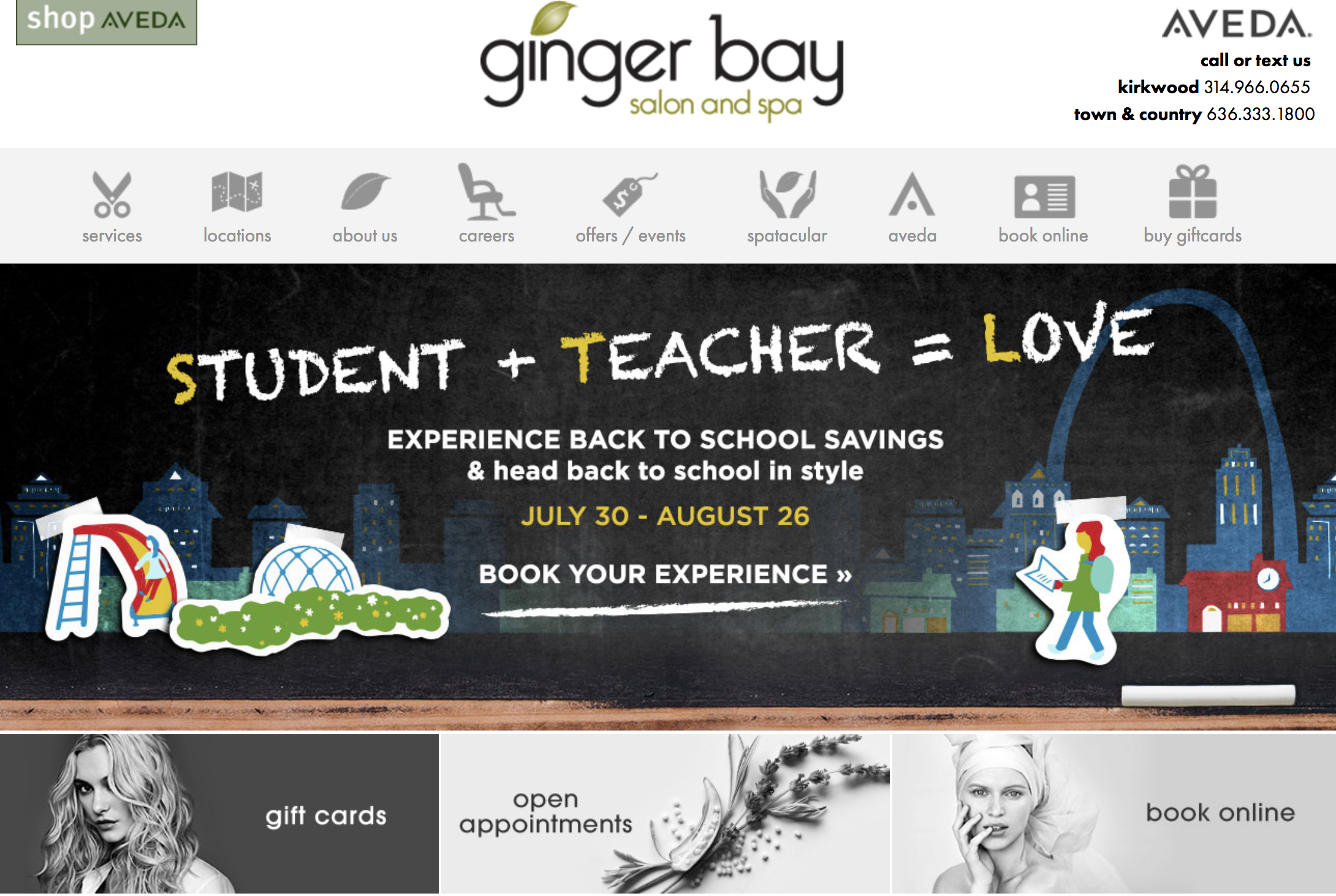 ginger bay gift cards homepage