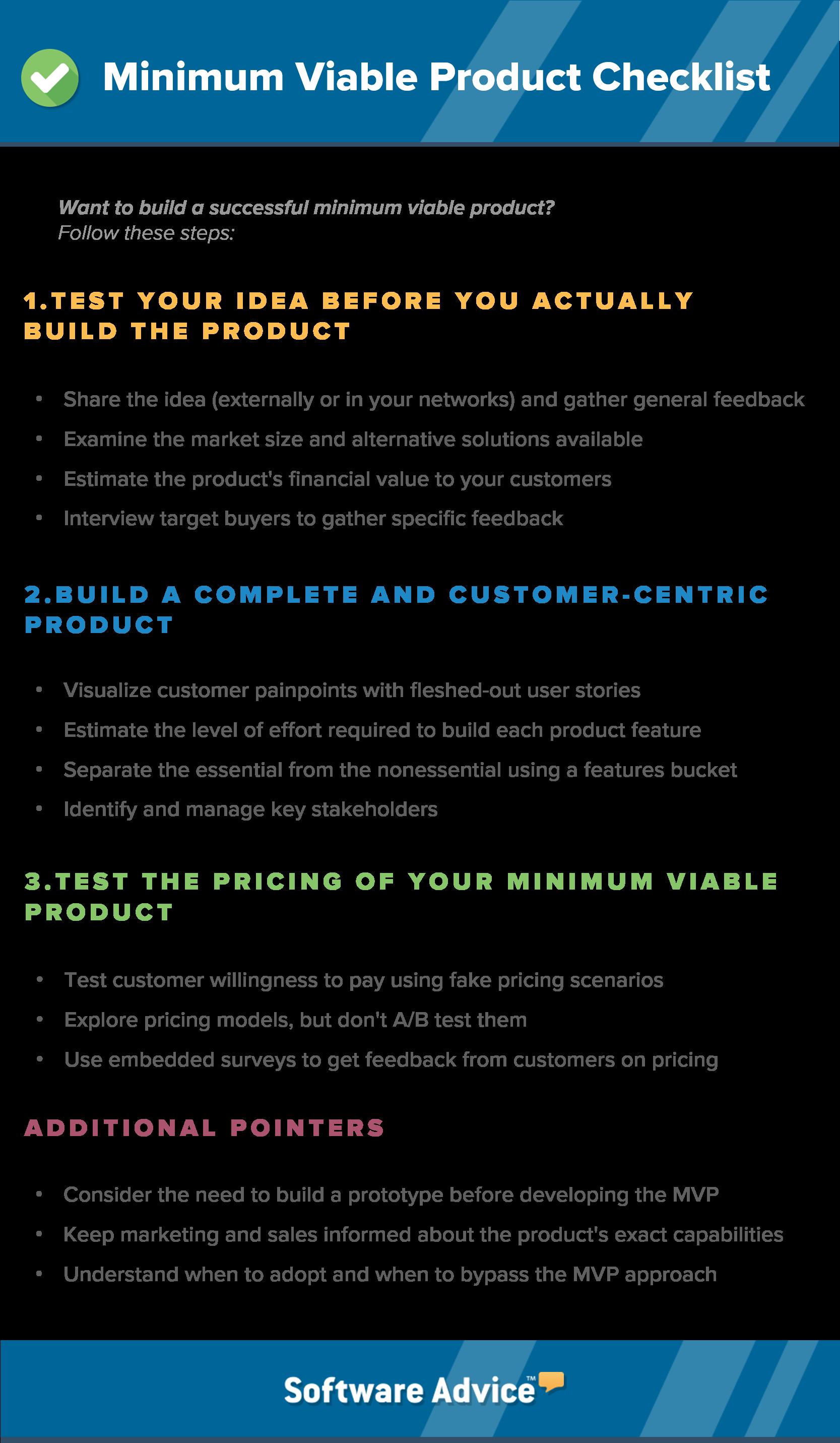 minimum viable product checklist