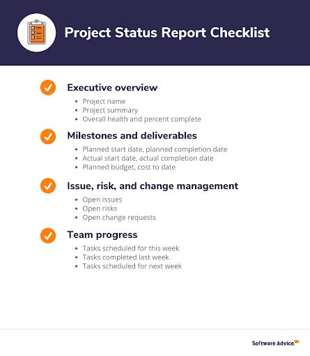 Project status report checklist
