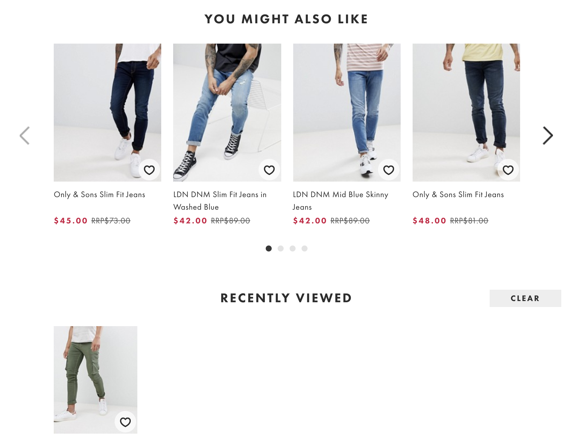 asos cross selling product recommendations