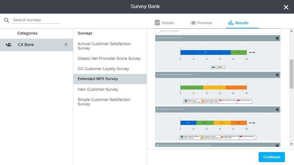 Analyzing survey results in SoGoSurvey