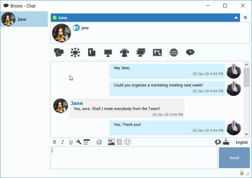 Chatting in Brosix