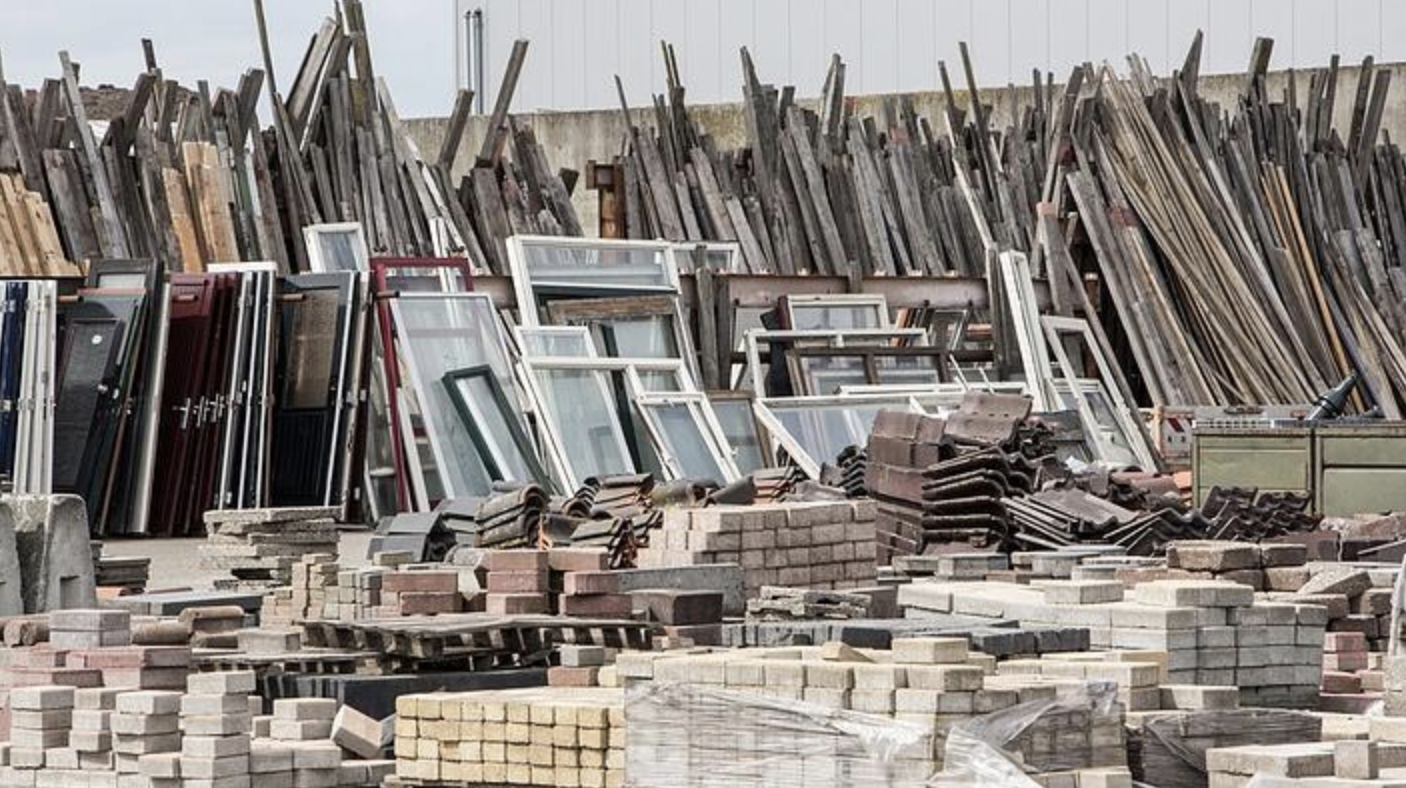 demolished buildings recyclable materials