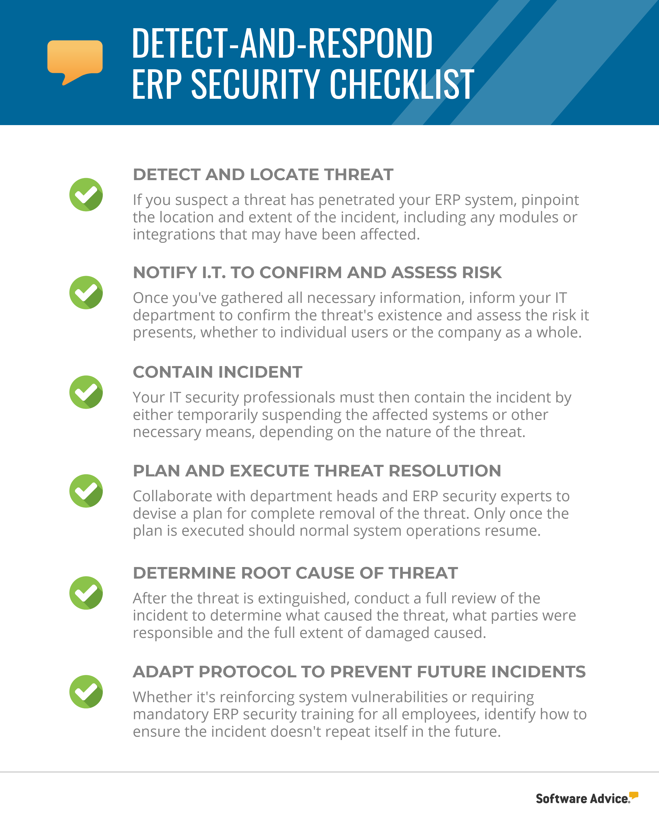 detect-and-respond erp security checklist