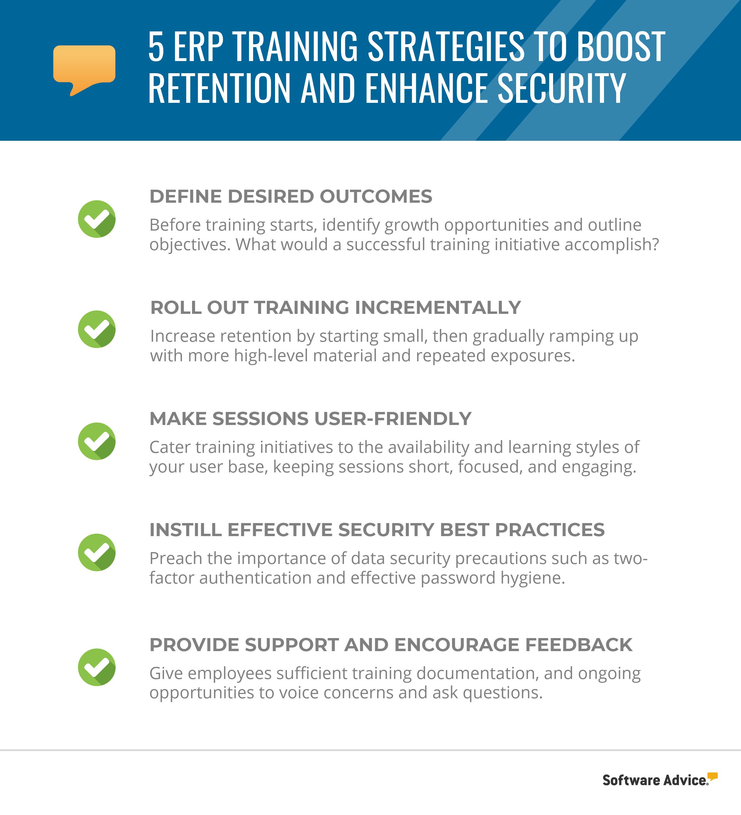 erp training strategies checklist