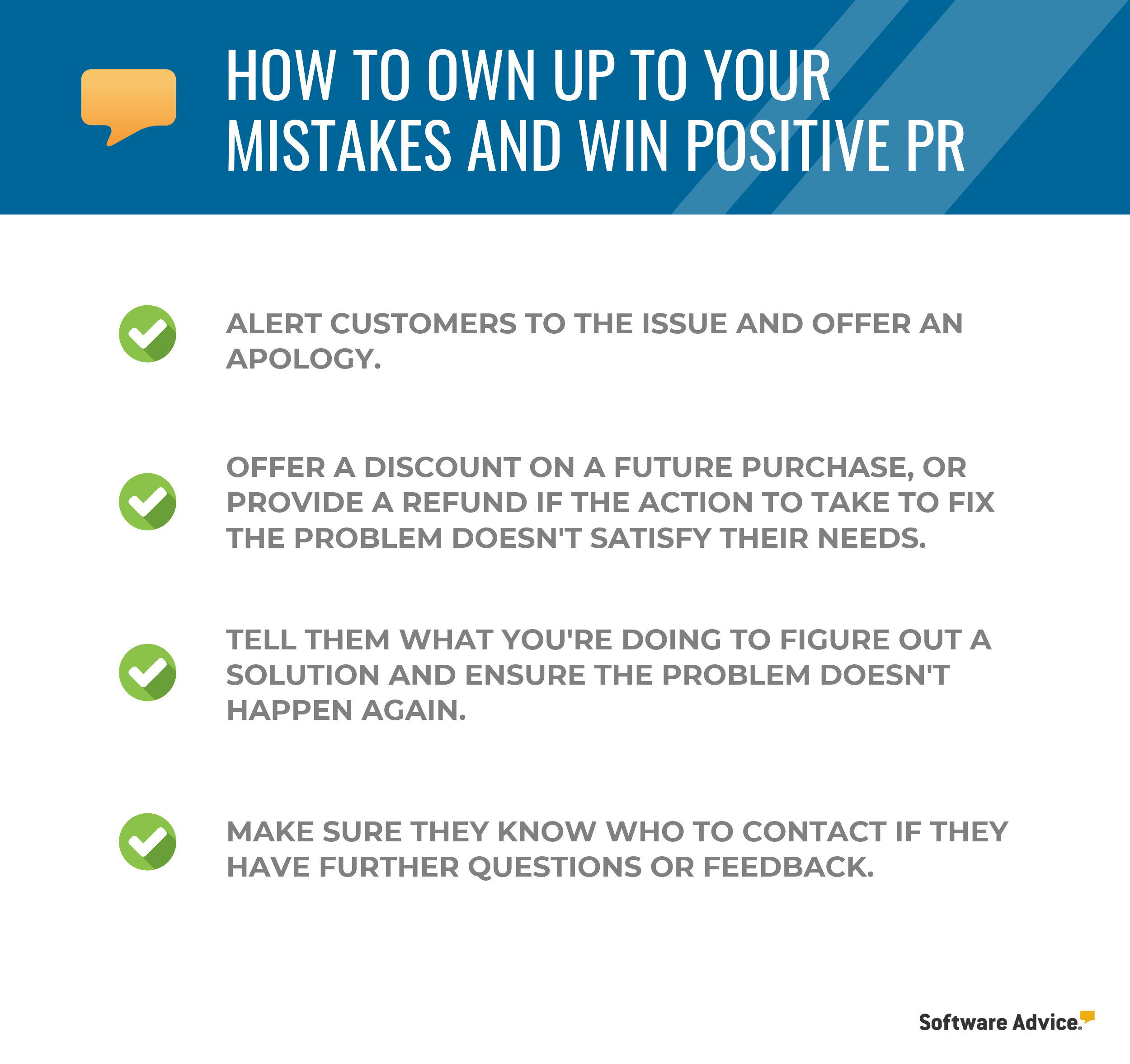 Mistakes check list