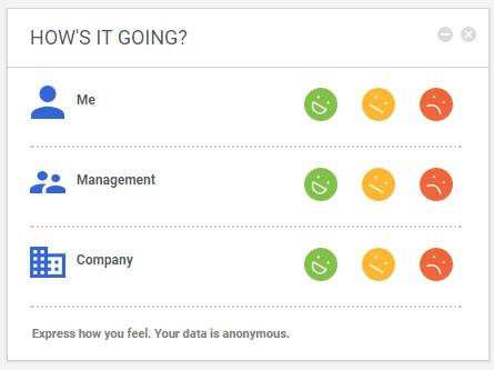 An employee pulse survey using Saba Software