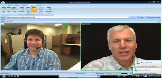 Secure Telehealth's secure video conferencing interface