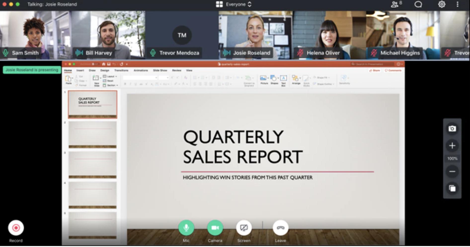 Video conferencing GoToMeeting screenshot