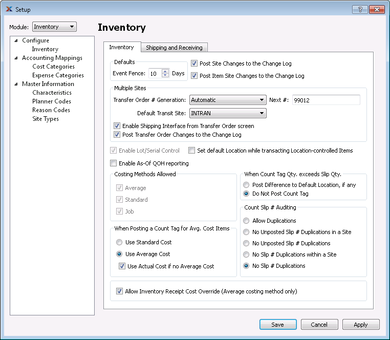 xTuple inventory management